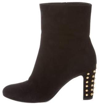 Gucci Studded Suede Ankle Boots