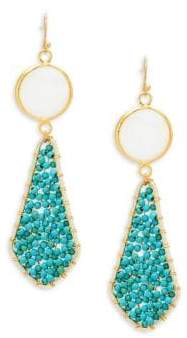 Panacea Mother-Of-Pearl Beaded Drop Earrings