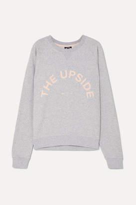 The Upside Bondi Appliquéd French Cotton-terry Sweatshirt - Light gray