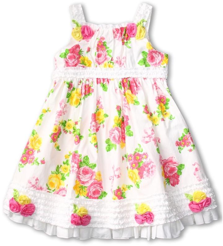 Biscotti Strappy Dress (Little Kids) (White) - Apparel