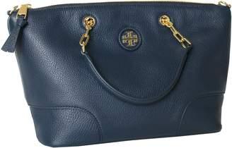 7ec237e390e4 Tory Burch Whipstitch Logo Small Slouchy Satchel Shoulder Women s Leather  Handbag