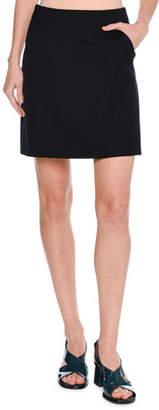 Tomas Maier A-line Miniskirt, Dark Blue