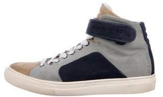 Pierre Hardy Suede High-Top Sneakers