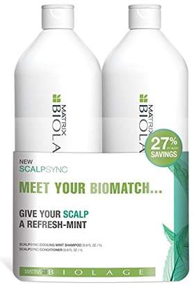 Matrix Biolage Scalpsync Shampoo and Conditioner Liter Duo