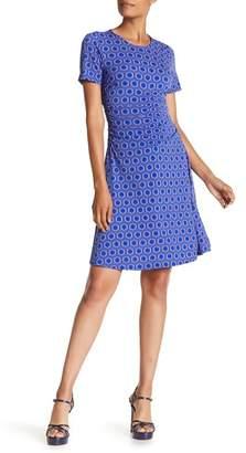 Donna Morgan Short Sleeve Printed Jersey Dress