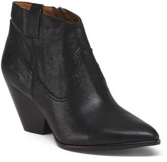 Frye Block Heel Leather Booties