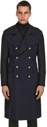 Tagliatore Double Breasted Wool Blend Coat