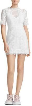 Maje Revanta Lace-Trim Sheath Dress