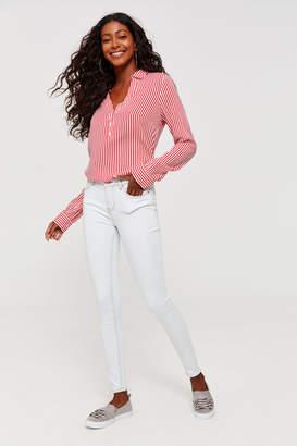 Ardene High Waist White Skinny Jeans