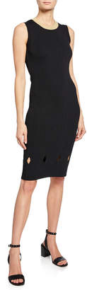 Rachel Roy Camilla Glitter-Neck Cutout Sweater Dress