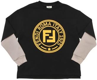 Fendi Rubber Logo Cotton Sweatshirt