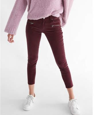 Express mid rise corduroy zip pocket ankle leggings