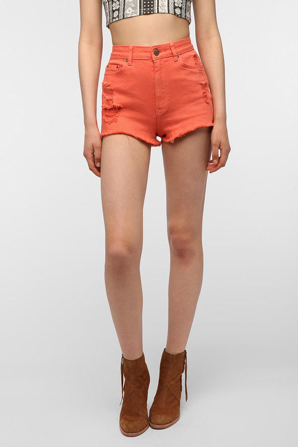 BDG High-Rise Cheeky Short - Orange