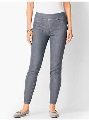 Talbots Sculpt Pull-On Denim Jegging - Dark Earl Grey