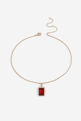 Topshop Ruby Ditsy Necklace