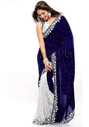 Stylo Sarees Wedding Designer Indian Ethnic Party Wear Velvet Saree