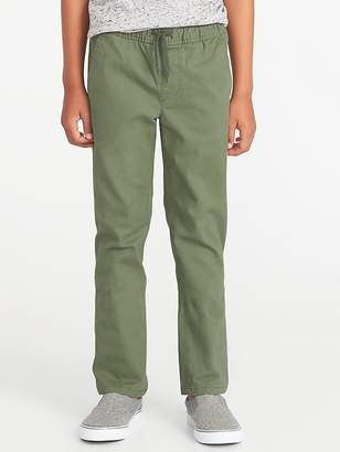 Old Navy Relaxed Slim Elasticized-Waist Twill Pants for Boys