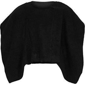 Rick Owens Minishroud Cropped Cape-Effect Wool Jacket
