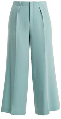 Roland Mouret Broadgate high-rise wide-leg wool-crepe trousers