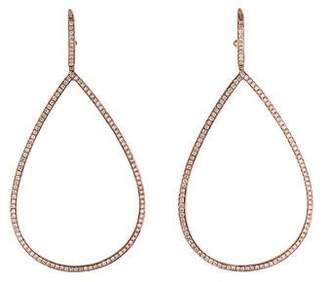 18K Diamond Large Teardrop Earrings