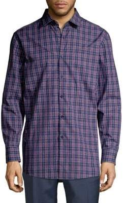 HUGO Mabel Plaid Button-Down Shirt