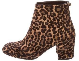Stuart Weitzman Ponyhair Round-Toe Ankle Boots