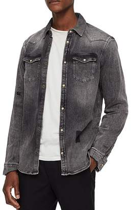 AllSaints Glockeley Slim Fit Denim Shirt