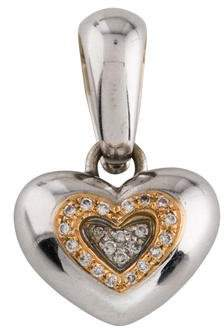 Chimento 18K Diamond Heart Pendant