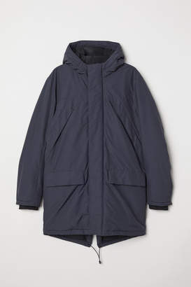 H&M Padded Parka with Hood - Blue