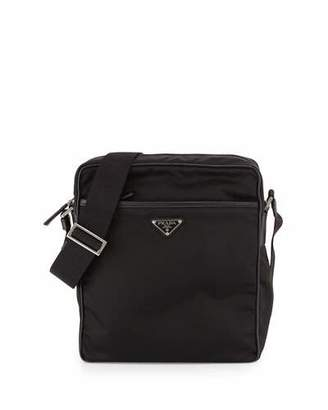 Prada Small Nylon Messenger Bag, Black $990 thestylecure.com