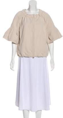 Prada Woven Short Sleeve Jacket
