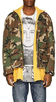 R 13 Men's Abu Camouflage Cotton Field Jacket - Olive