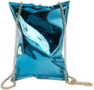 Anya Hindmarch Blue Metal Clutch Bag