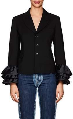 Comme des Garcons Women's Wool-Mohair Three-Button Blazer