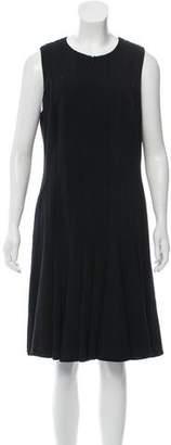 Akris Zipper-Accented Knee-Length Dress
