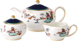 Wedgwood Wonderlust Teapot, Sugar & Cream Set