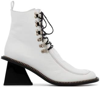 Marques Almeida Marques'almeida square toe lace up boots