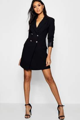 boohoo Double Breasted Tailored Blazer Dress