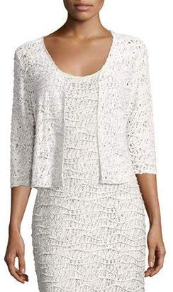 Neon Buddha Blaire Variegated Knit Crop Cardigan, Plus Size