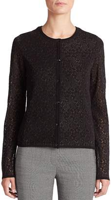 Escada Women's Floral Fil Coupe Knit Cardigan