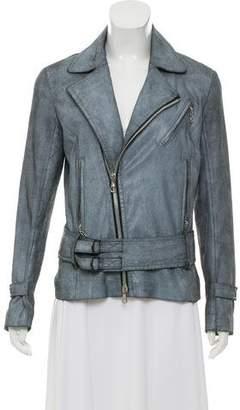 Rag & Bone Suede Belted Jacket