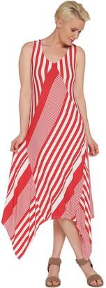 Laurie Felt Asymmetrical V-Neck Dress