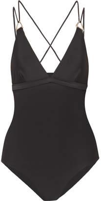 Dion Lee Tri Lock Swimsuit - Black