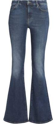 MiH Jeans Distressed Mid-Rise Flared Jeans