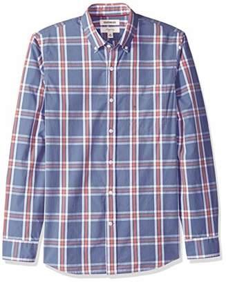 Goodthreads Men's Slim-Fit Long-Sleeve Plaid Poplin Shirt