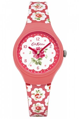 Cath Kidston Ladies Provence Rose Red Silicone Strap Watch CKL025P