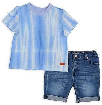 7 For All Mankind Boys' Tie-Dye Tee & Denim Shorts Set - Baby