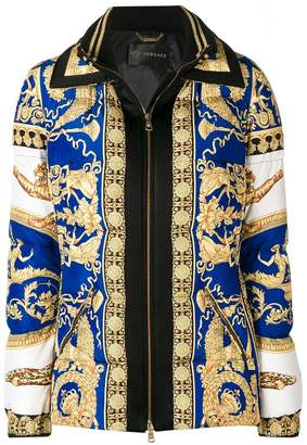 Versace baroque padded jacket