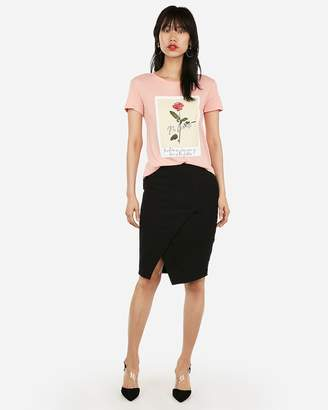 Express No Limits Rose Graphic Easy Tee