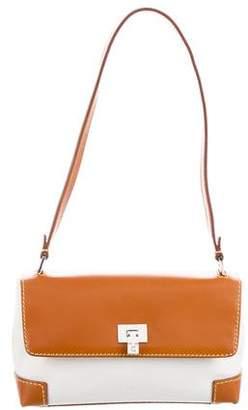 Lambertson Truex Leather-Trimmed Flap Bag